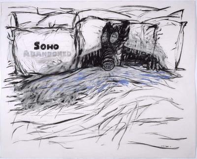Soho abandoned (with gasmask) 1991