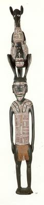 Spirit figure with wallaby; 1987; 1987/0146