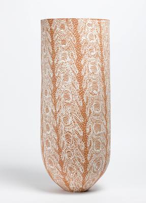 Batik terracotta vase
