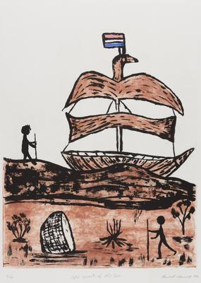 Old spirit of the sea (from the Duyfken: The Aboriginal Print Portfolio)