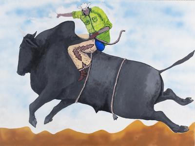 Bull ride; 2015-2016; 2016/0097.a-c