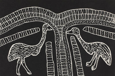 Two emus - Karnanganyja; 1988; 1988/0181