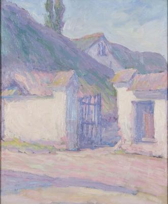 The farm gate in sunlight; c 1907-c 1908; 1974/0P11