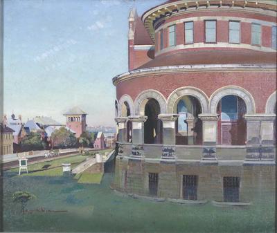 The Western Australian Museum looking towards Perth Boys' School