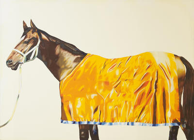Horse series painting no. 9: with yellow rug