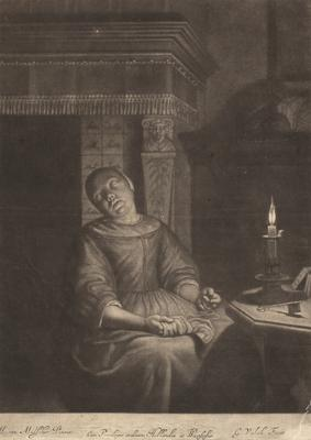 The sleeping maid