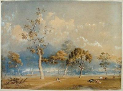 The first train through Hawthorn 1853