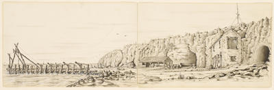 View of the tunnel under the Round House and Whaling Jetty at Fremantle; 1841-1850; 1996/0078