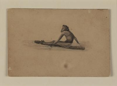 Native of Dampiers Archipelago, on his floating log