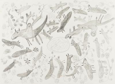 Mustering (set of 6 drawings); 1999; 2000/0241.1-6