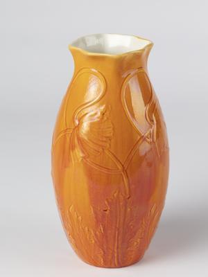 Vase with poppy decoration