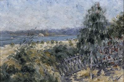 not titled [landscape, river scene]