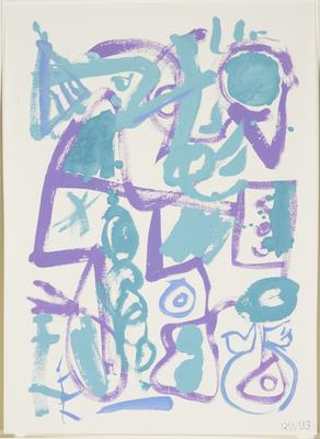Untitled (Turquoise, blue and purple)