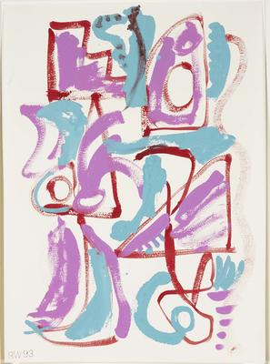 Untitled (red, turquoise, and purple)