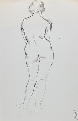 not titled [nude study II]; c 1898-c 1966; 2010/0117
