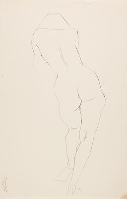 not titled [nude study III]; c 1898-c 1966; 2010/0118