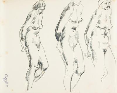 not titled [nude studies, three figures]; c 1898-c 1966; 2010/0121