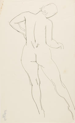 not titled [nude study IV]; c 1898-c 1966; 2010/0119