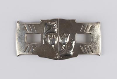 Cymric silver belt buckle