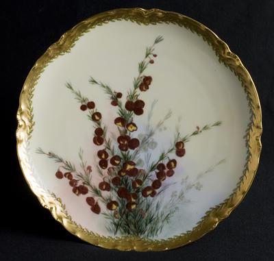 Plate with Boronia decoration; c 1920; 2012/0030