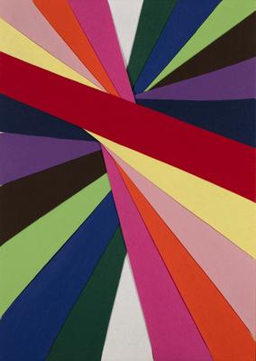 Untitled (Construction of coloured rays)