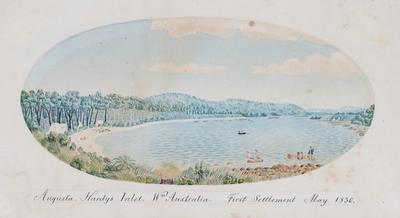 Augusta. Hardys Inlet. Western Australia. First Settlement May 1830.