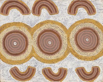 Women at Wilkinkarra (from Tingari ceremonial cycle); 1988; 1989/0093