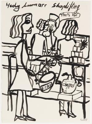 Untitled (Hedy Lamarr shoplifting); 1987; 2020/0030
