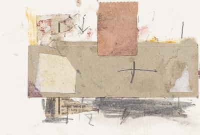 Untitled collage (Pink rectangle); 1991; 2020/0053