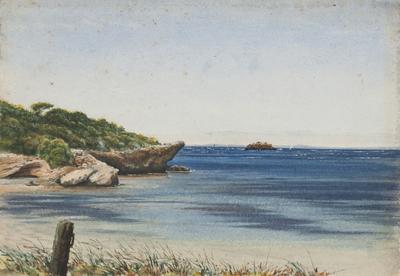 Rottnest Island Pt and Island Looking Toward Fremantle, March 12 and 13 1876; 1876; 1970/0W11