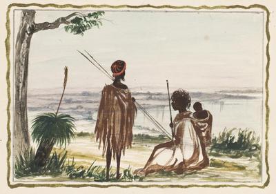 Scene near river (Blackboy); c 1860s; 1976/0W15