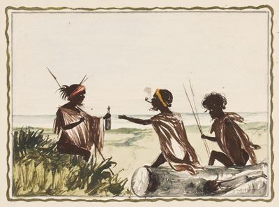 Receiving spirits near a log; c 1860s; 1976/0W16