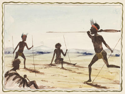Throwing the spear