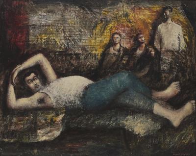 Joe resting; c 1945; 1979/00P4