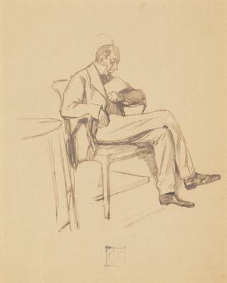 Man With Book, Sleeping