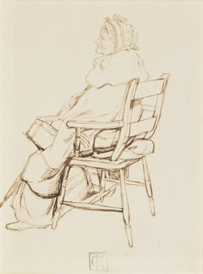 Study of old lady, seated