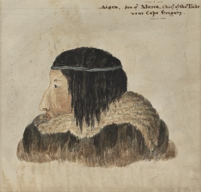 Aigen, Son of Marea, Chief of the Tribe, Near Cape Gregory