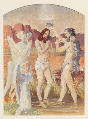 Baptism of Christ (Study for an altarpiece); c 1922-c 1948; 1948/00D4