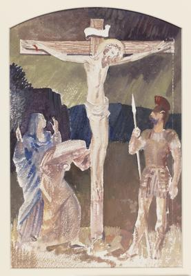 The Crucifixion (Study for an alterpiece); c 1922-c 1948; 1948/00D5