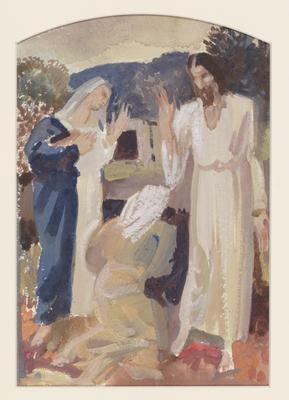 The Resurrection (Study for an altarpiece); c 1922-c 1948; 1948/00D6