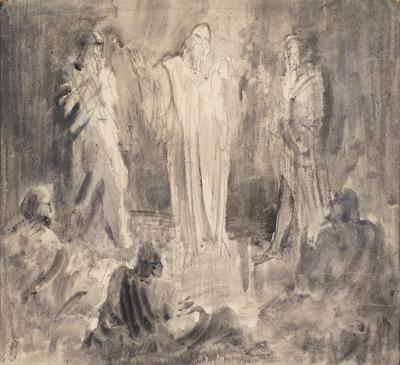 The Transfiguration (Study for an altarpiece); c 1922-c 1948; 1948/00D8
