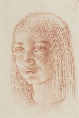 Head of a girl; c 1922-c 1955; 1955/0D12