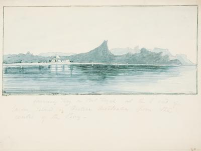 Careening Bay or Port Royal at the south end of Garden Island in Western Australia from the centre of the bay; c 1830; 1924/00D1