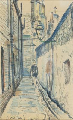 Sketch drawings for `Duncan's Close, Edinburgh'