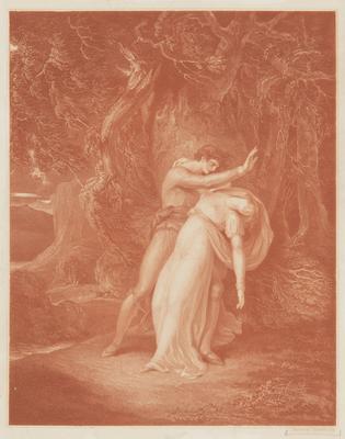 Man Abducting Fainting Woman; c 1745-c 1815; 1947/0Q16