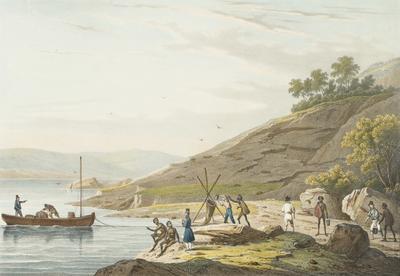 Aiguade de l'Astrolabe au Port du Roi Georges (N'elle Hollande); 1833; 1955/0Q51