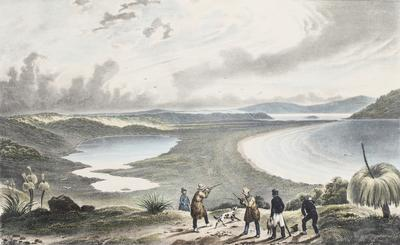 Vue d'un Etang pres la Baie du Roi Georges (N'elle Hollande); 1833; 1961/00Q7