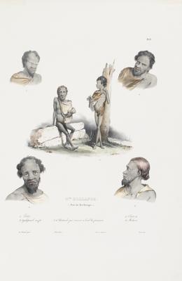 """""""N'elle Hollande (Port du Roi Georges)"""" (5 studies of natives)"""