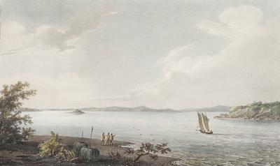 Le Havre aux Huitres dans le Port du Roi Georges; 1833; 1961/0Q10