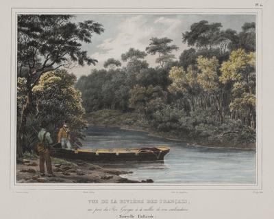 Vue de la Riviere des Francais au Port du Roi Georges a 4 milles de son embouchure (Nouvelle Hollande); 1833; 1966/0Q31